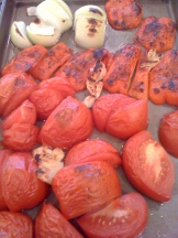 roasted tomatoes, red peper, garlic and onion - photo - Karen Anderson