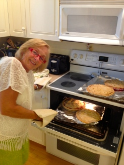 I love to cook with my Mom Gerri - the expert pie maker in our family. How about you? Who makes your favourite family recipe? - photo - Karen Anderson
