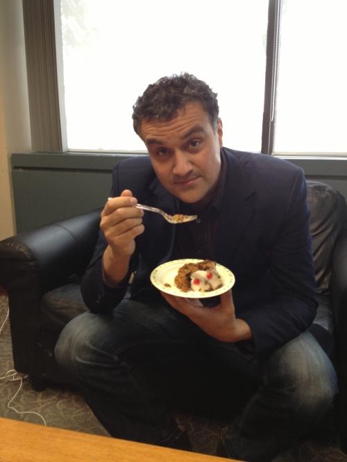 Carl Honoré liked my Honey Beet Cake very much