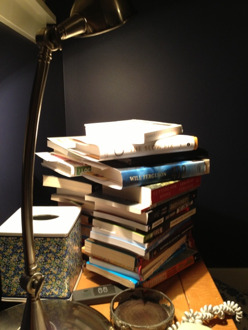 If you can't count how many books on your bedside table, how will you get through them all?
