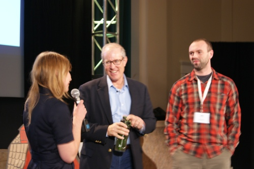 Joel Salatin (middle) with #UCanFarm workshop organizers Alex Judd and Rob Avis of Verge Permaculture