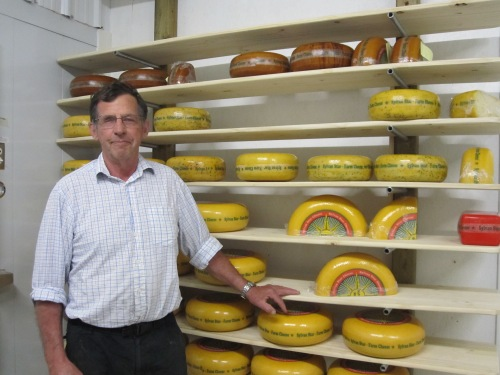 John Schalkwijk and his Award winning Sylvan Star Cheeses