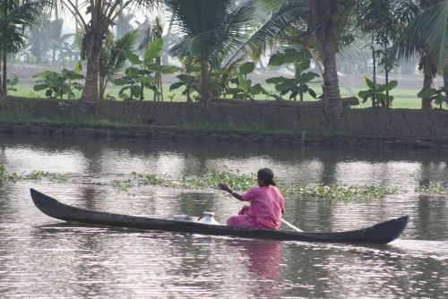 Lunch delivery Keralan backwaters Photo by Karen Anderson