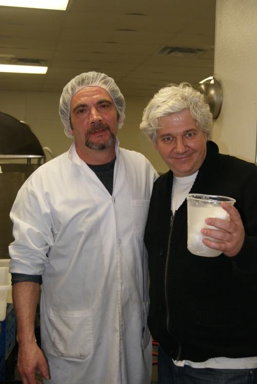 Paulo Campanella and Frank Fiorini, White Gold Cheese Factory photo credit - Karen Anderson