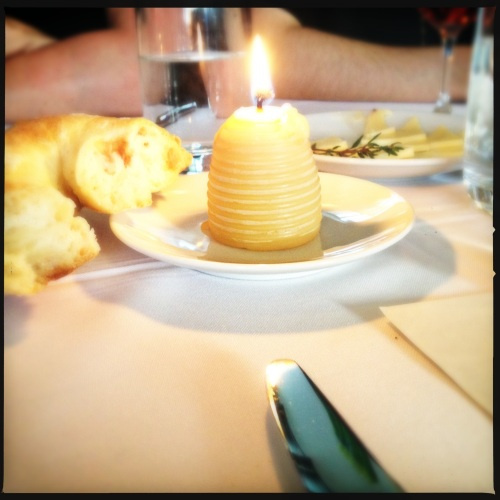 Beeswax candles from Arlo's Honey farm