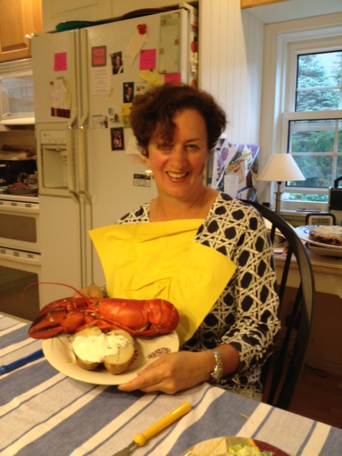 Still my favourite - boiled lobster  photo credit  - my sister Laurie Rans