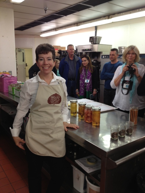 Darcella's canning class in the kitchens of the Delta Grand Okanagan