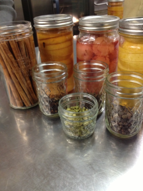 clove, cardamom, cinnamon and allspice options for spicing apples