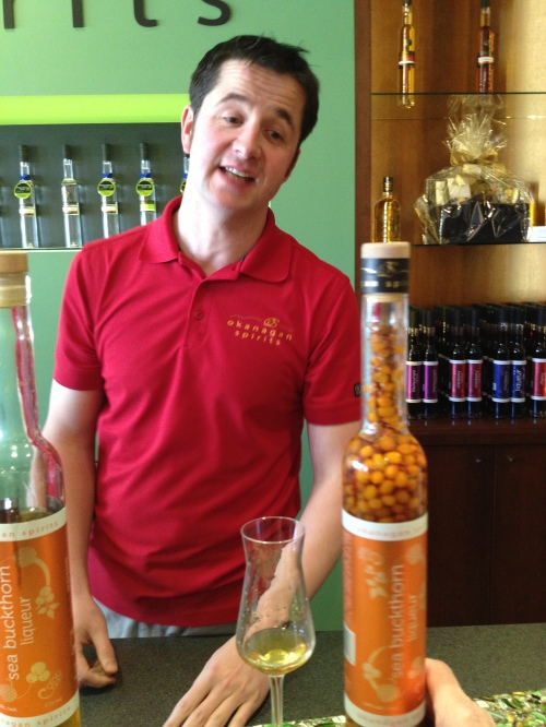 Rodney Goodchild presented delectable possibilities with SeaBuckthorn Eau de Vie among them