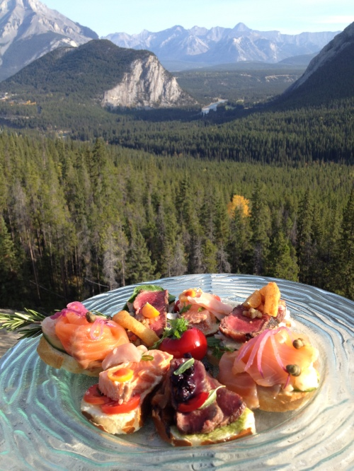 Game platter by chef Ralph Wollman, Rimrock Resort, Banff Photo credit - Karen Anderson