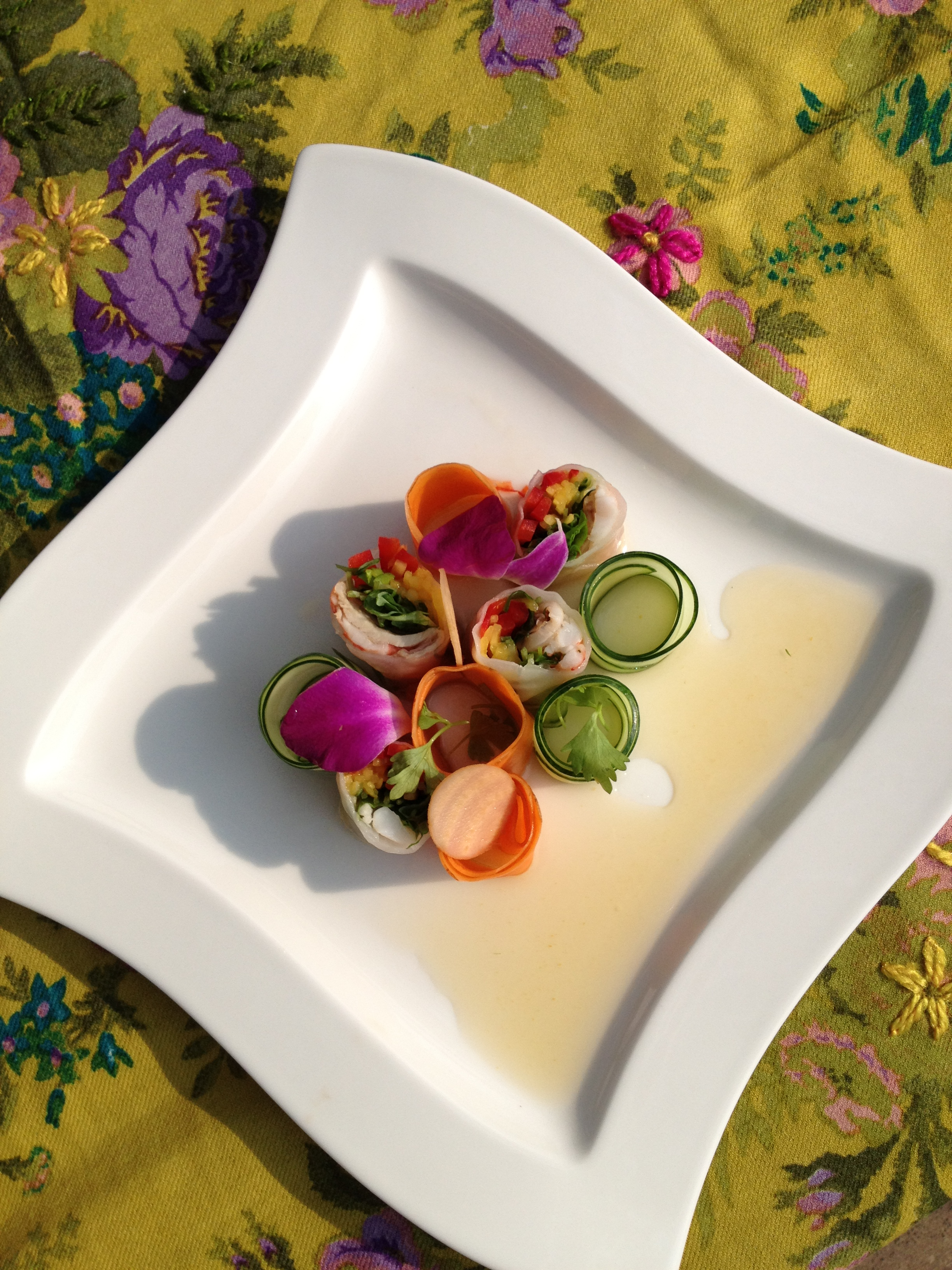 Spragg's Pork Spring Roll by chef Duncan Ly, Hotel Arts, Calgary Photo & styling credit - Karen Anderson
