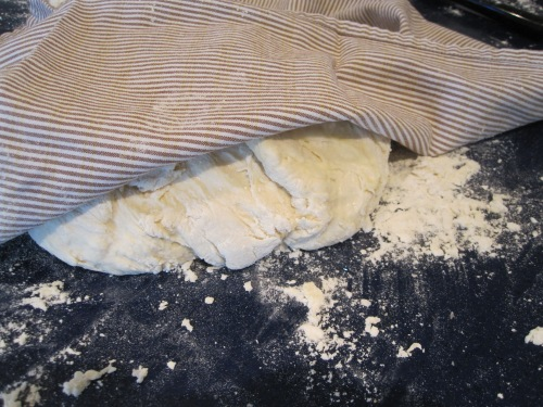 rest the dough a bit - it's all about the gluten