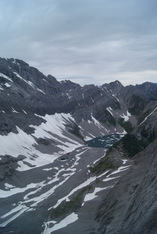 July 17 - still ice in mountain lake - Canadian Rockies photo - Karen Anderson