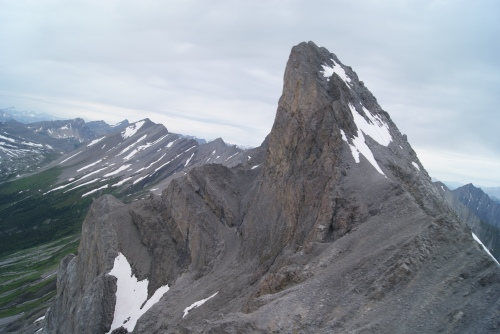 "Helicopter ""peak""-a-boo involves the incredible mountain peaks of the Canadian Rockies photo - Karen Anderson"