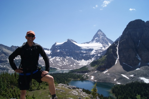 Bryce Jones The man has attempted Mt. Assiniboine twice It's only a matter of time Bryce photo - Karen Anderson
