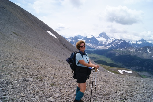 I made it - look how far away Mt. Assiniboine is
