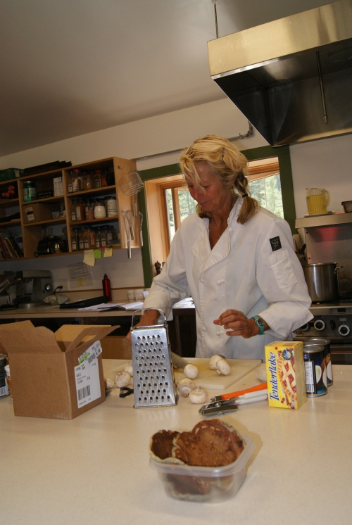chef Marianne Abraham in the kitchen of Mt. Assiniboine Lodge photo - Karen Anderson