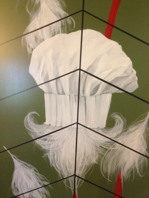 A chef/angel lives here - kitchen door - Mt. Assiniboine Lodge photo - Karen Anderson