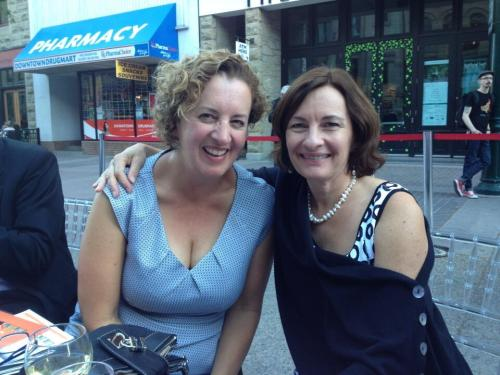 Me and Liane Faulder, friend and writing mentor September 2013