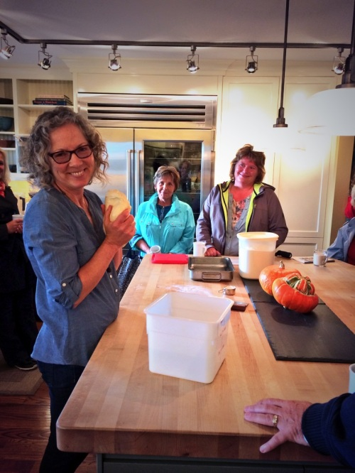 Penny Marshall making her Oat Buns in her kitchen at Highwood Crossing photo - Karen Anderson