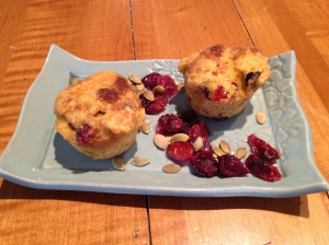 Pumpkin muffins with cranberries, pepitas and brown sugar topping photo - Karen Anderson