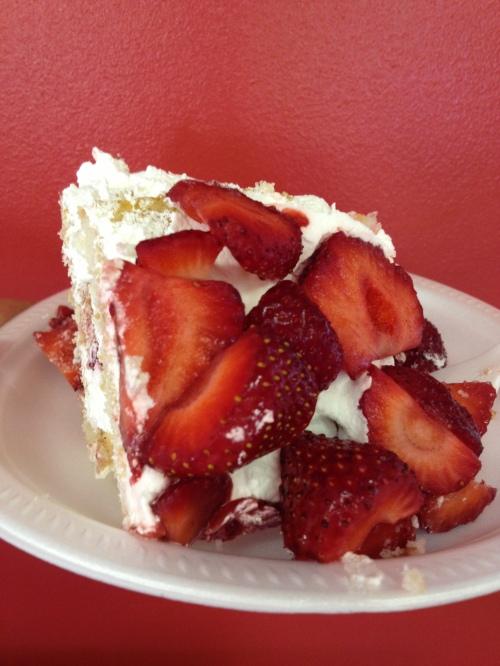 Leona's delicious strawberry shortcake photo - Karen Anderson