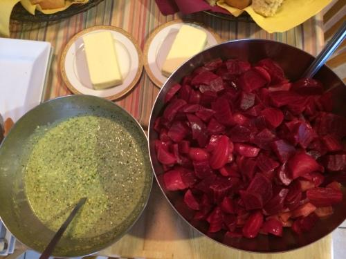 Beet Salad w Pistachio Dressing - a recipe from chef Matthew Altizer photo - Karen Anderson