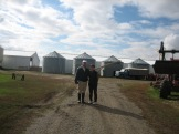 Darrel Winter and Corrine Dahm in 2007 on my first visit to their farm photo - Karen Anderson