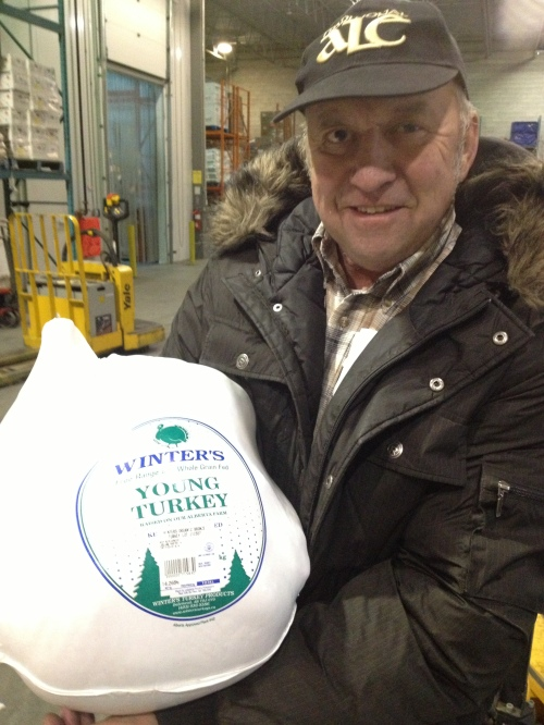 Meeting Darrel Winter to pick up my turkey has become an annual holiday tradition photo - Karen Anderson