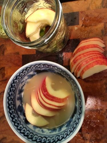 half rings in lemon bath photo - Karen Anderson