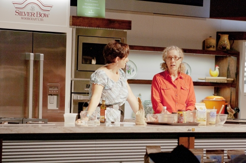 Each year I am honoured to present at The Calgary Stampede Calgary Coop Showcase Kitchen In 2011 I was honoured to have Penny Marshall join me  photo credit - Adam Chiasson