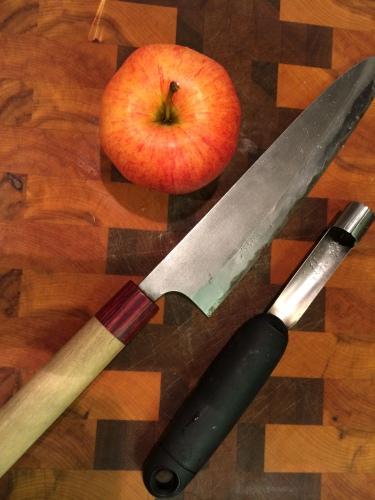 apple, good knife, apple corer photo - Karen Anderson