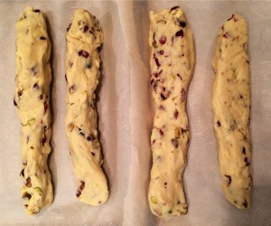 Form 4 logs if doubling the batch You can't double most biscotti recipes but this one handles it well. photo - Karen Anderson