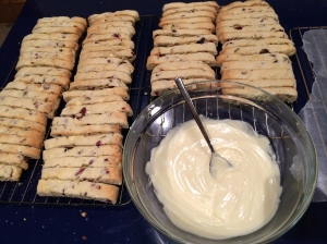 Melted white chocolate ready to drizzle photo - Karen Anderson