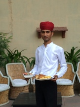 Suresh Jingar, a staff member at Rohet Garh photo - Karen Anderson