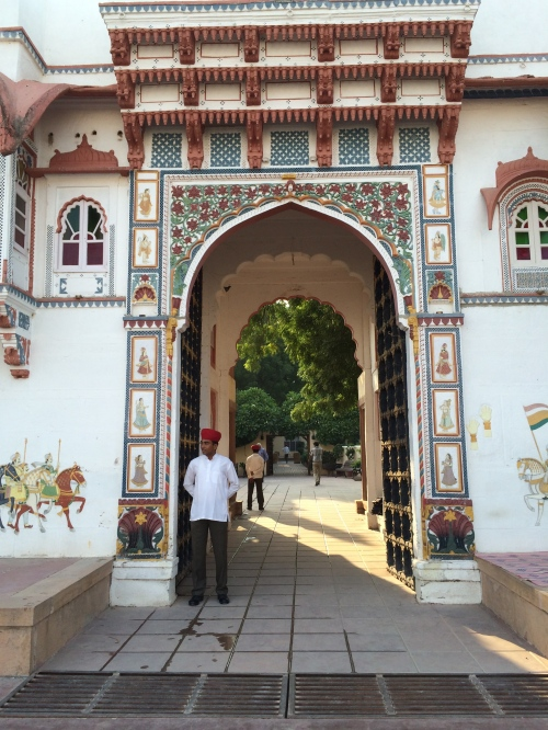 The beautiful entrance to Rohet Garh (near Jodhpur) in Rajasthan, India photo - Karen Anderson