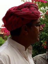 Praduman Singh, owner, Chandeleo Garh photo - Karen Anderson