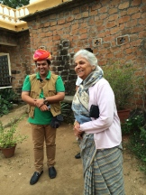 Indus Guide Luv Jawad with the raja-mother of DeoGarh at her lake fortress photo - Karen Anderson