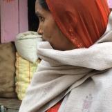 vegetable seller, Deo Garh photo - Karen Anderson