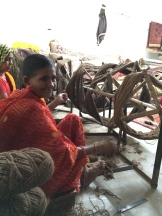 weaver in Jaipur photo - Karen Anderson