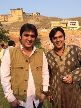 Indus Guides - Kush and Luv Jawad at Amir Fort, Jaipur photo - Karen Anderson