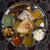 Thali for lunch photo - Karen Anderson