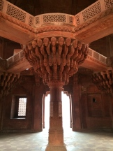 Akbar's meeting hall, Fatehpur Sikri photo - Karen Anderson