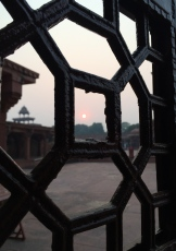 Sunset at Fatehpur Sikri photo - Karen Anderson