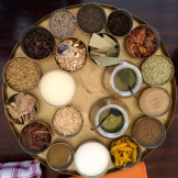 elaborate masala dhaba with garlic, chill and ginger pastes and oils in addition to the usual spices photo - Karen Anderson