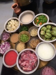 Mise en place - everything in place - one of the secrets to successful Indian cuisine photo - Karen Anderson
