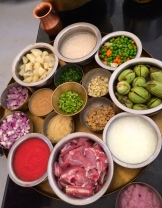 mise en place - great Indian cooks organize all ingredients before starting the actual cooking process photo - Karen Anderson