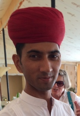 Suresh Jingar - proud to serve at Rohet Garh photo - Karen Anderson