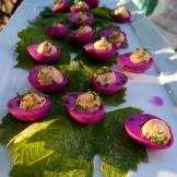 Blushing devilled eggs photo - Karen Anderson