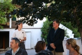Dana Ewart introduces Fairview Cellar's owner Bill Eggart photo - Karen Anderson